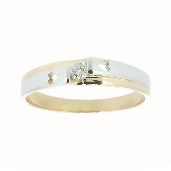 Ювелирное кольцо из красного золота 585 пробы с бриллиантом RD-6673rod