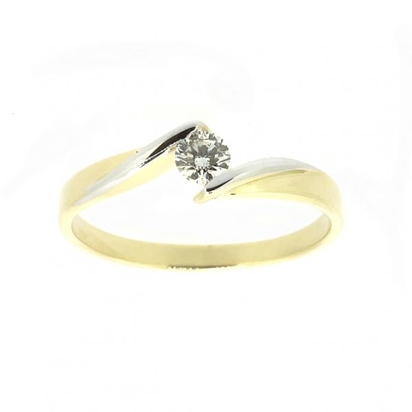 Ювелирное кольцо из жёлтого золота 585 пробы с бриллиантом RD-6676y