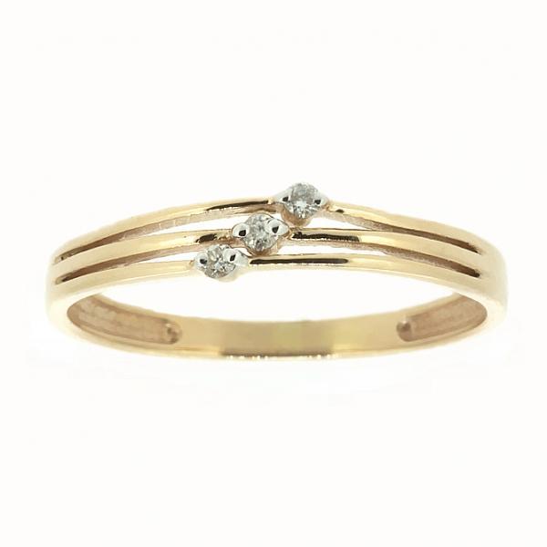 Ювелирное кольцо из красного золота 585 пробы с бриллиантами RD-6703