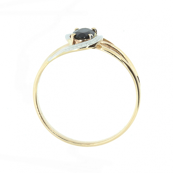 Ювелирное кольцо из красного золота 585 пробы с сапфиром RS-6690