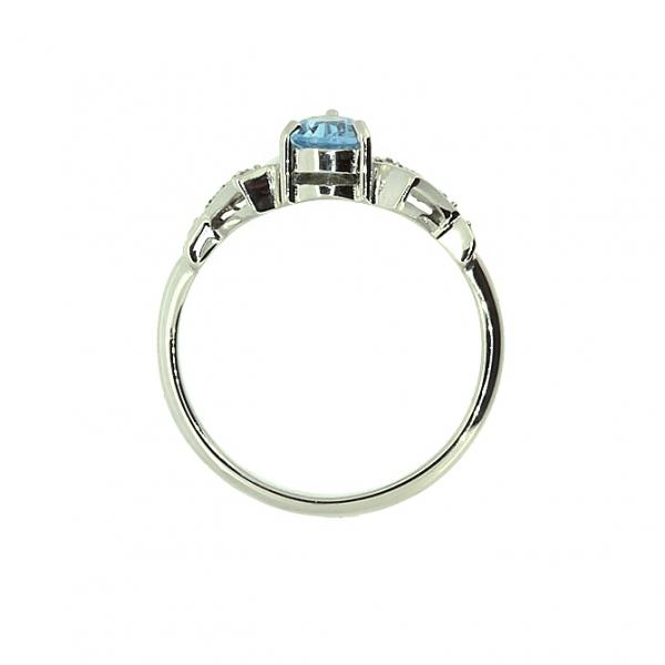 Ювелирное кольцо из белого золота 585 пробы с топазом и бриллиантами RT-6174w