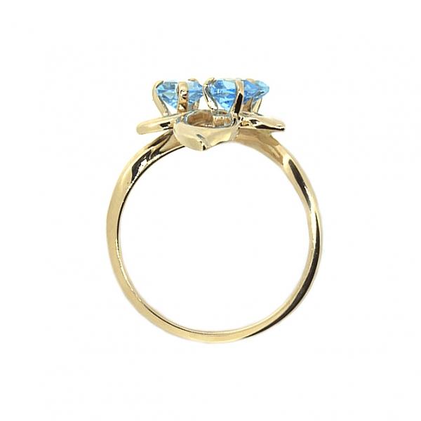 Ювелирное кольцо из красного золота 585 пробы с топазами RT-6617