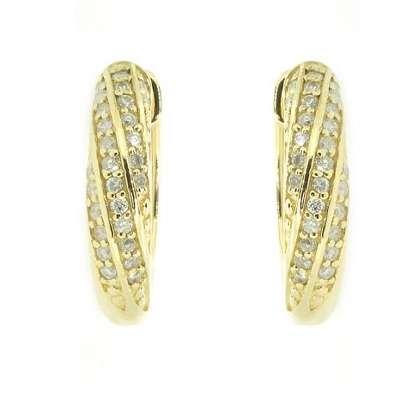 Ювелирные серьги из жёлтого золота 585 пробы с бриллиантами ED-5530y