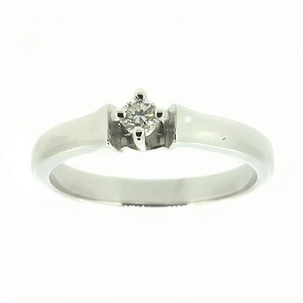 Ювелирное кольцо из белого золота 585 пробы с бриллиантом RD-6765w