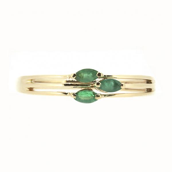Ювелирное кольцо из красного золота 585 пробы с изумрудами RE-6720/1