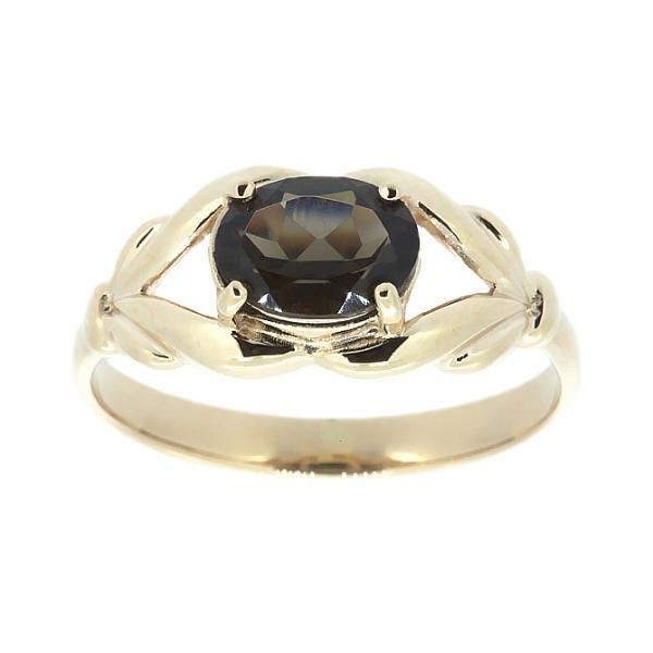 Ювелирное кольцо из красного золота 585 пробы с раухтопазом RRt-6599