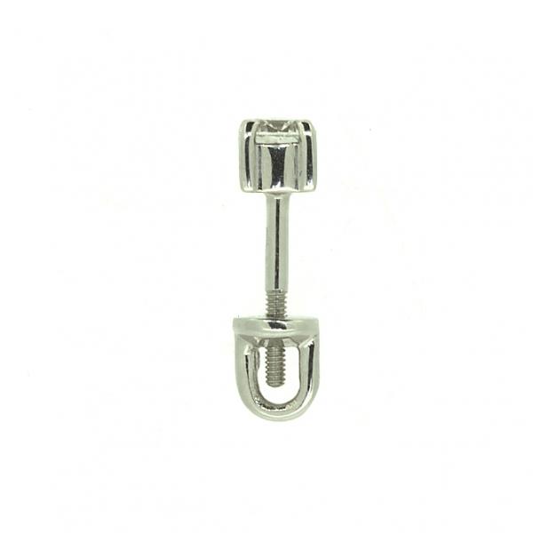 Золотые серьги-пусеты в белом золоте с бриллиантами ED-6633w