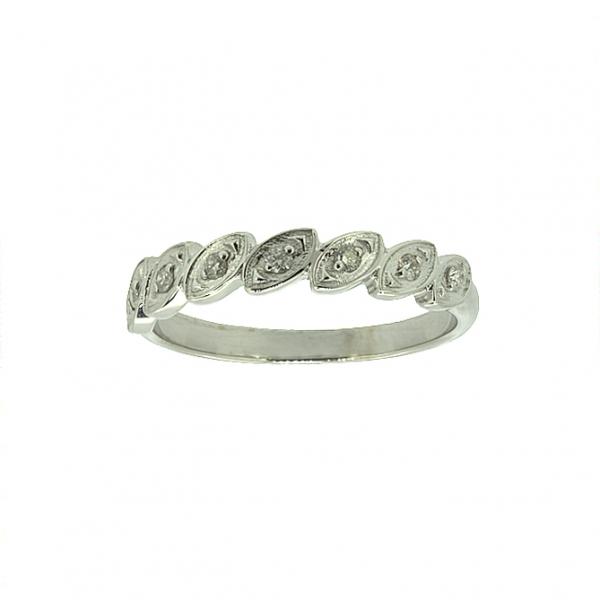 Ювелирное кольцо из белого золота 585 пробы с бриллиантами RD-5554w