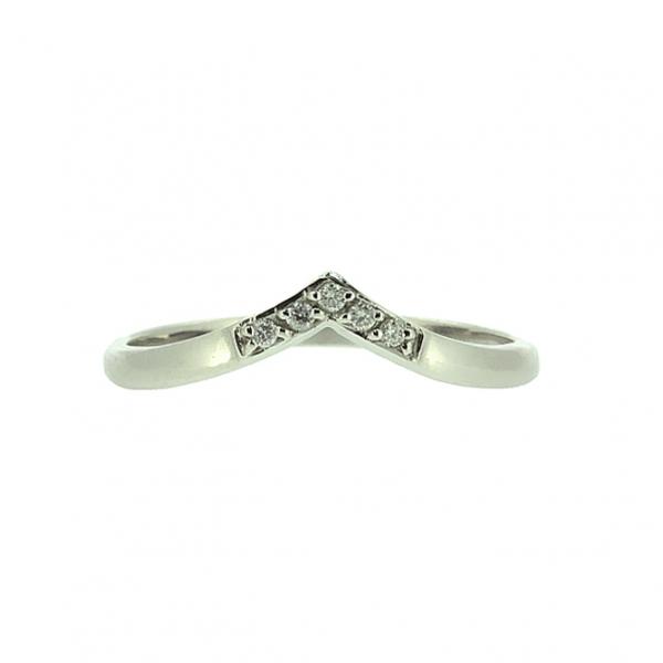 Ювелирное кольцо из белого золота 585 пробы с бриллиантами RD-6842w