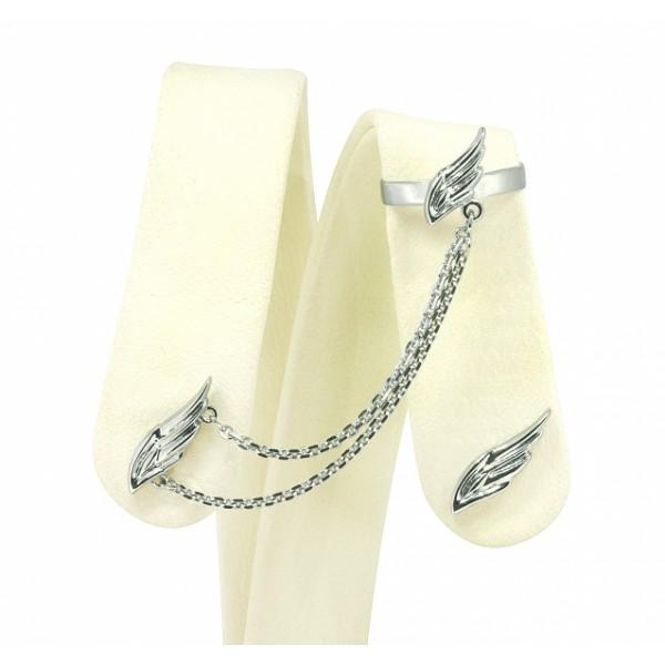 Ювелирные серьги-каффы из белого золота 585 пробы ED-00269w