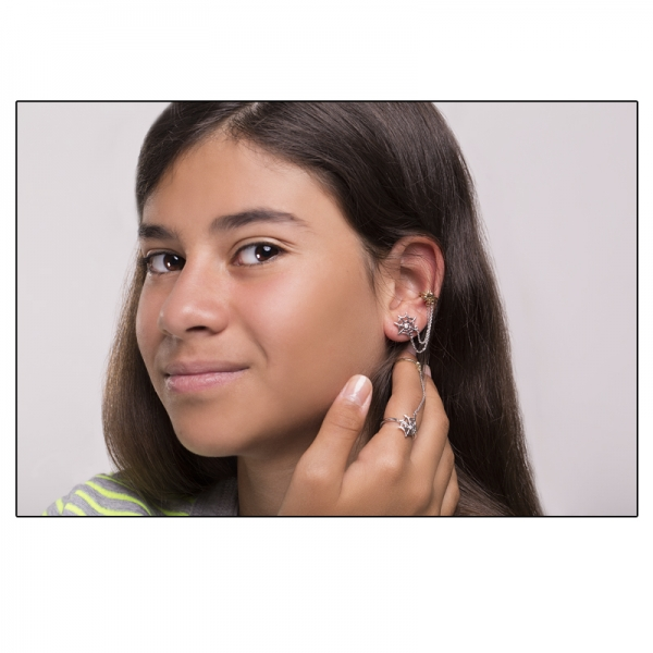Ювелирное кольцо из жёлтого и белого золота 585 пробы с бриллиантом RD-00265wy