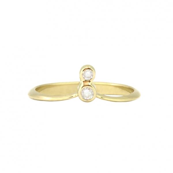 Ювелирное кольцо на первую фалангу из красного золота 585 пробы с бриллиантами RD-00267