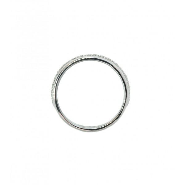Ювелирное кольцо на первую фалангу из серебра 925 пробы с фианитами RCz-00277Ag