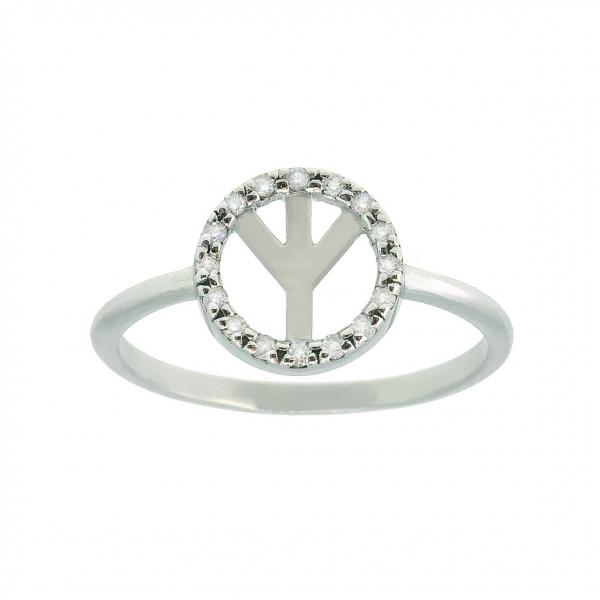 Ювелирное кольцо из белого золота 585 пробы с бриллиантами RD-00278w