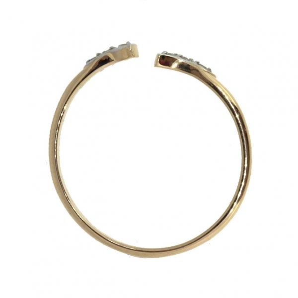 Ювелирное кольцо из красного золота 585 пробы с бриллиантами RD-6841