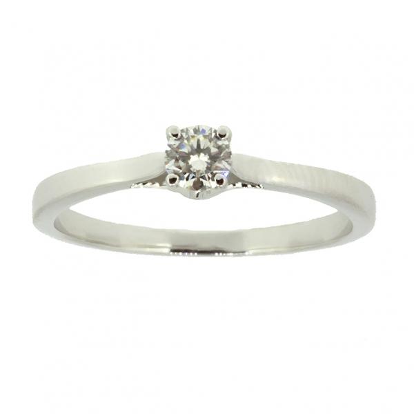Ювелирное кольцо из белого золота 585 пробы с бриллиантом RD-6875w