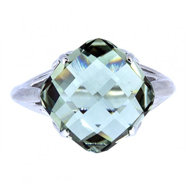 Ювелирное кольцо из белого золота 585 пробы с празиолитом RPras-5560w