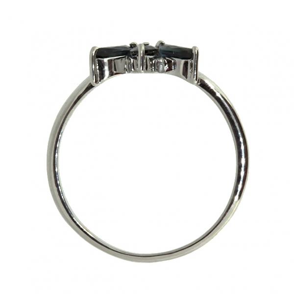 Ювелирное кольцо из белого золота 585 пробы с сапфирами RS-5590w