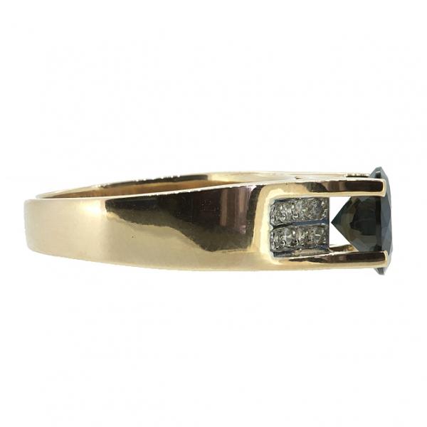 Ювелирное кольцо из красного золота 585 пробы с сапфиром и бриллиантами RS-6573