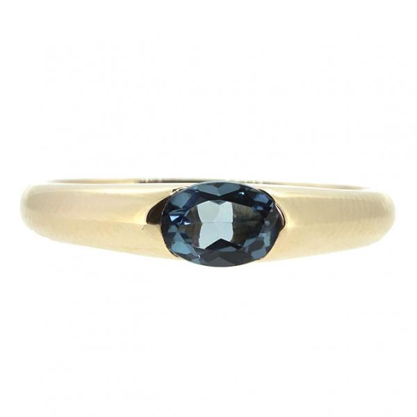 Ювелирное кольцо из красного золота 585 пробы с Лондон-топазом RTL-15790