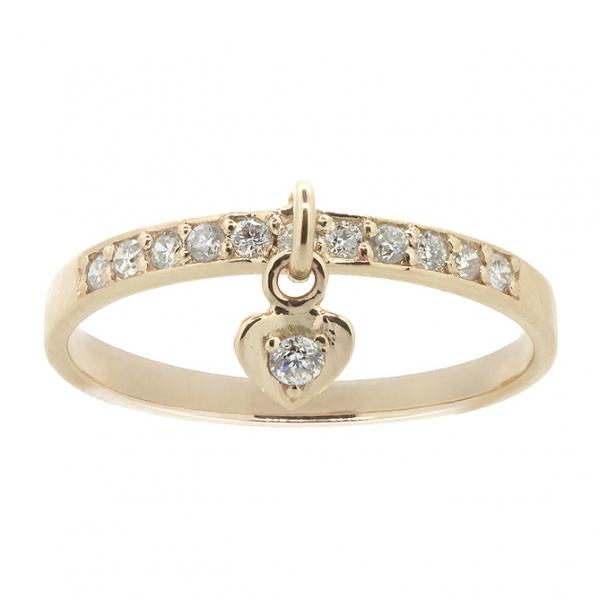 Ювелирное кольцо из красного золота 585 пробы с бриллиантами RD-6902