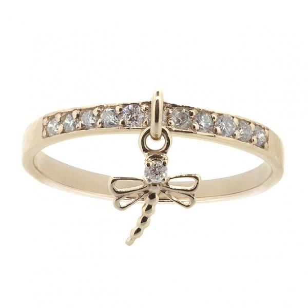 Ювелирное кольцо из красного золота 585 пробы с бриллиантами RD-6903