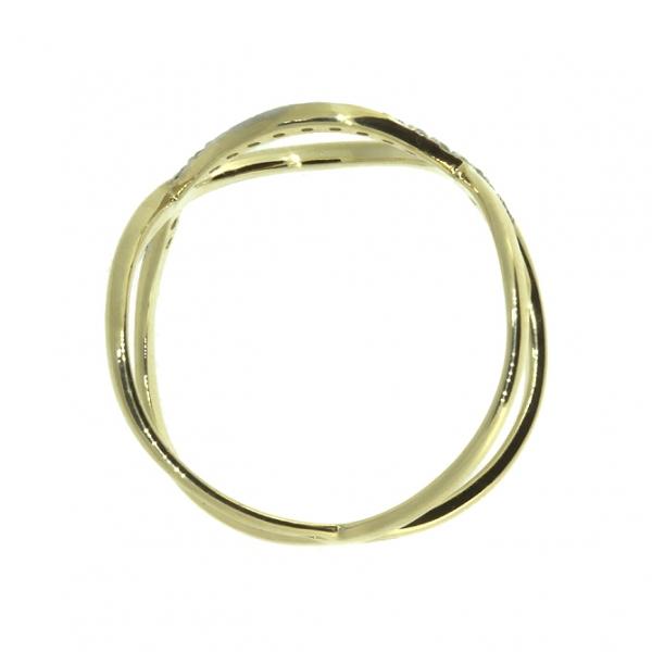 Ювелирное кольцо из жёлтого золота 585 пробы с бриллиантами RD-6883y