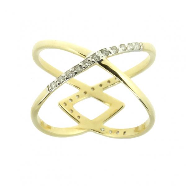 Ювелирное кольцо из жёлтого золота 585 пробы с бриллиантами RD-6884y