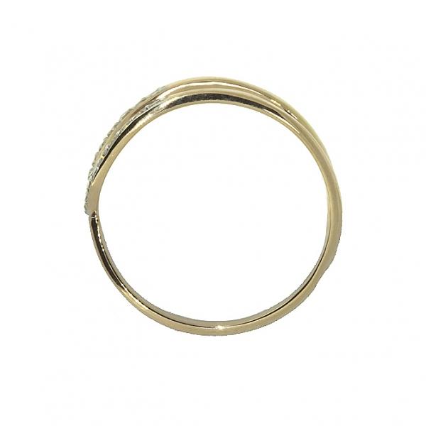 Ювелирное кольцо из красного золота 585 пробы с бриллиантами RD-6888