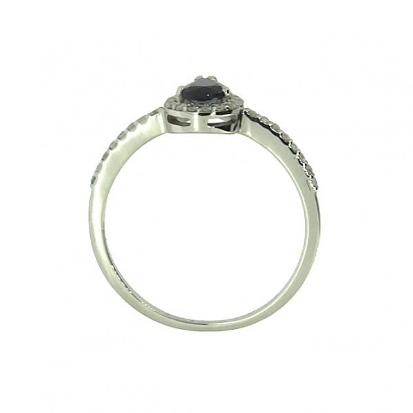 Ювелирное кольцо из белого золота 585 пробы с сапфиром и бриллиантами RDS-6843w