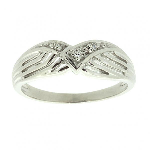 Ювелирное кольцо из серебра 925 пробы с бриллиантами RD-607Ag