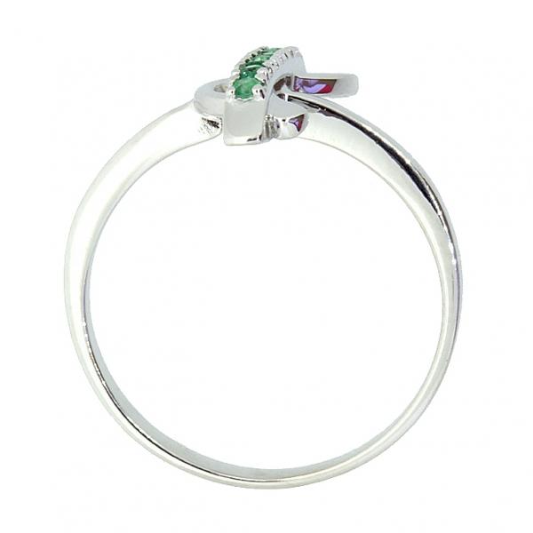 Ювелирное кольцо из серебра 925 пробы с изумрудами RE-6462Ag