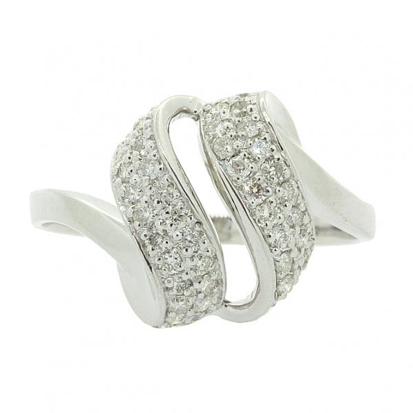 Ювелирное кольцо из серебра 925 пробы с бриллиантами RD-6569Ag