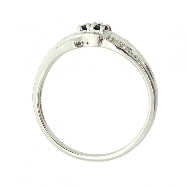 Ювелирное кольцо из серебра 925 пробы с сапфирами и бриллиантами RDS-9012Ag