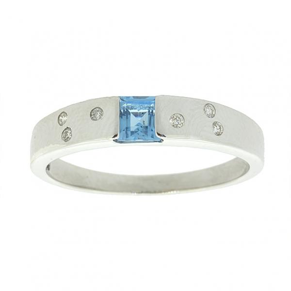 Ювелирное кольцо из серебра 925 пробы с топазом и бриллиантами RDT-17749Ag