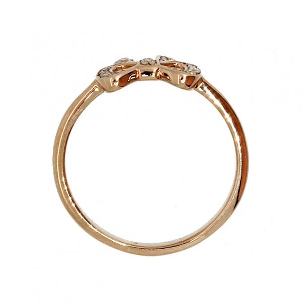Ювелирное кольцо из красного золота 585 пробы с бриллиантами RD-00203