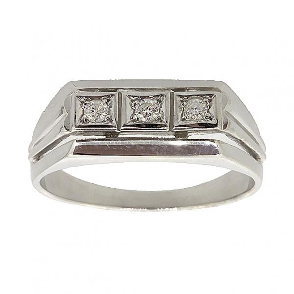 Ювелирное мужское кольцо из серебра 925 пробы с бриллиантами RD-6028Ag