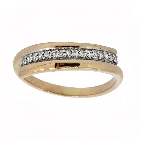 Ювелирное кольцо из красного золота 585 пробы с бриллиантами RD-6861