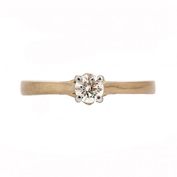 Ювелирное кольцо из красного золота 585 пробы с бриллиантом RD-6875