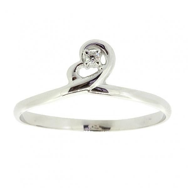 Ювелирное кольцо из белого золота 585 пробы с бриллиантом RD-6898w