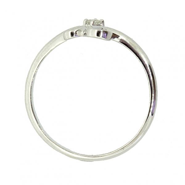 Ювелирное кольцо из белого золота 585 пробы с бриллиантом RD-6907w