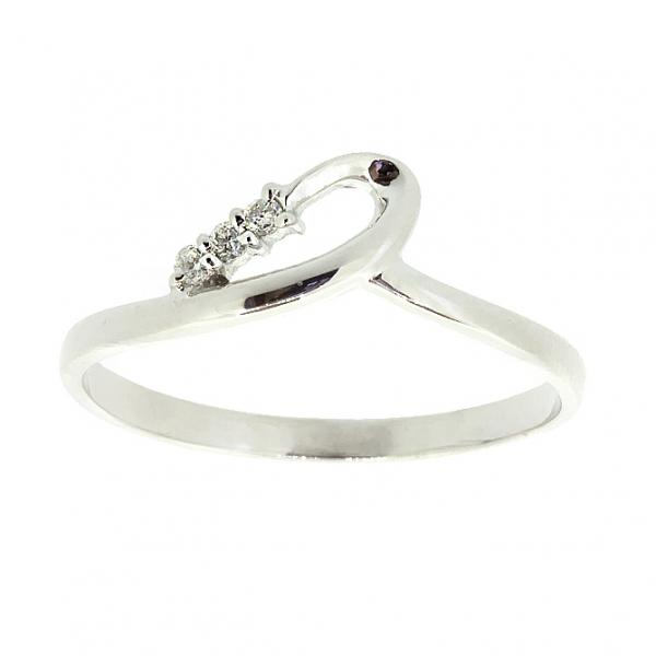 Ювелирное кольцо из белого золота 585 пробы с бриллиантами RD-6908w