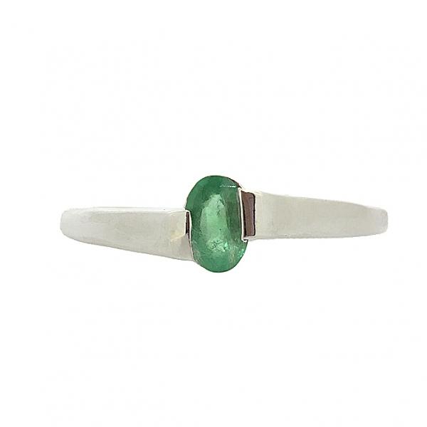 Ювелирное кольцо из серебра 925 пробы с изумрудом RE-6002Ag