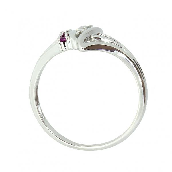 Ювелирное кольцо из серебра 925 пробы с рубинами и бриллиантами RDR-1006Ag