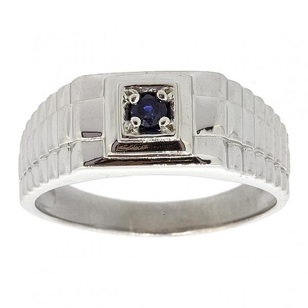 Ювелирное мужское кольцо из серебра 925 пробы с рубином RR-3671Ag