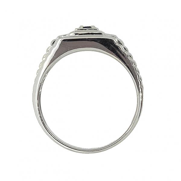 Мужское кольцо из серебра 925 пробы с гранатом RGn-3671Ag