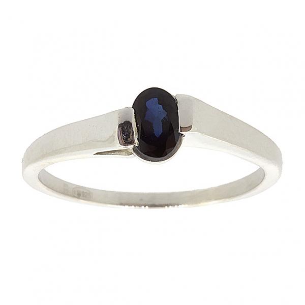 Ювелирное кольцо из серебра 925 пробы с сапфиром RS-6002Ag