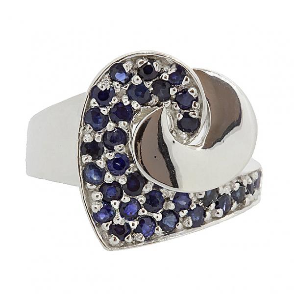 Ювелирное кольцо из серебра 925 пробы с сапфирами RS-6451Ag
