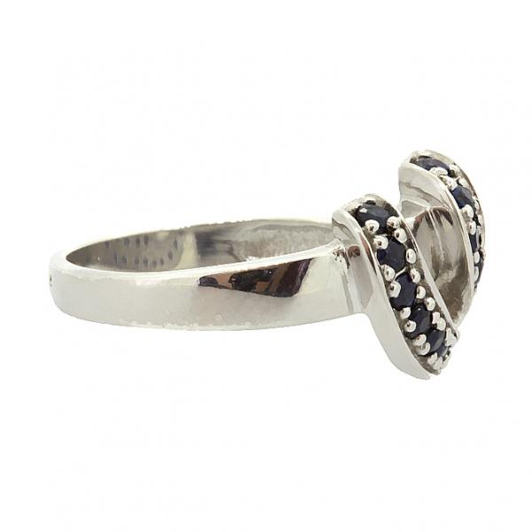 Ювелирное кольцо из серебра 925 пробы с сапфирами RS-6511Ag