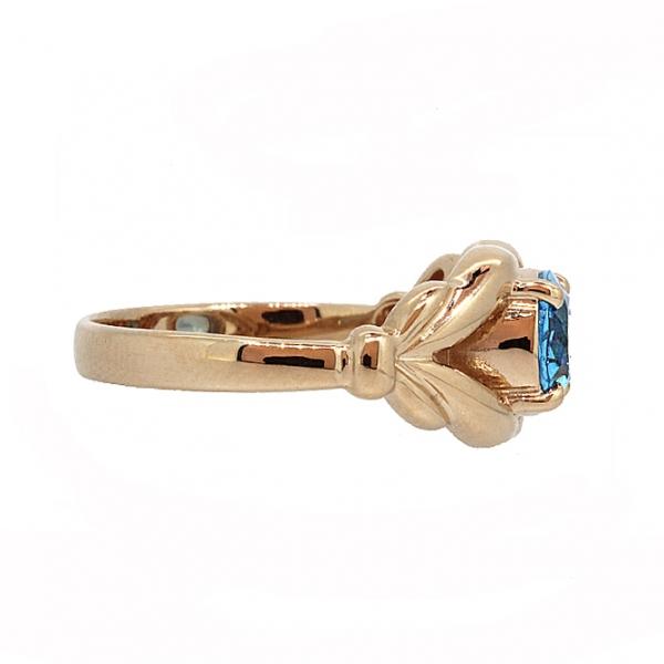 Ювелирное кольцо из красного золота 585 пробы с топазом RT-6599